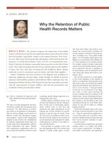 Why the Retention of Public Health Records Matters