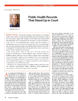 Public Health Records That Stand Up in Court