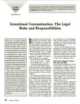 Intentional Contamination: The Legal Risks and Responsibilities
