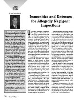 Immunities and Defenses for Allegedly Negligent Inspections