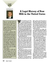 A Legal History of Raw Milk in the United States