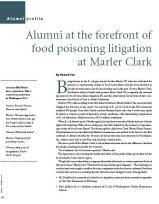 Alumni at the forefront of food poisoning litigation at Marler Clark